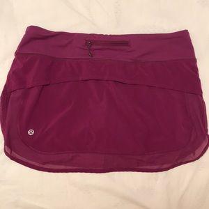 Lululemon Hotty Hot skirt with mesh detail